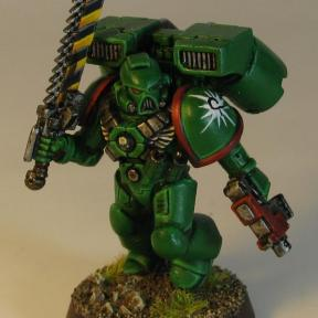 An Aurora Chapter Assault Marine ready to take on his foe...